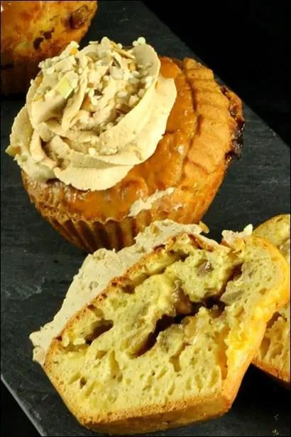 cupcake salé pomme oignon foie gras