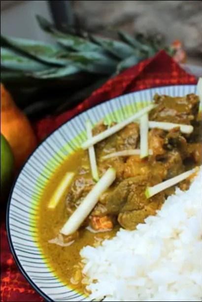 curry agneau lait coco