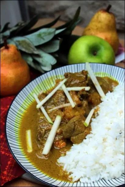 curry agneau ananas