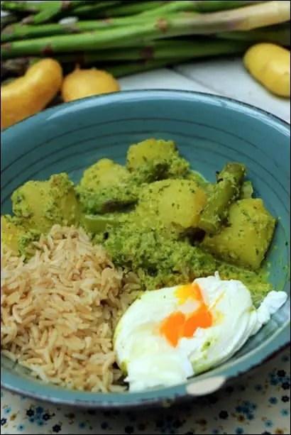 curry vert pommes de terre