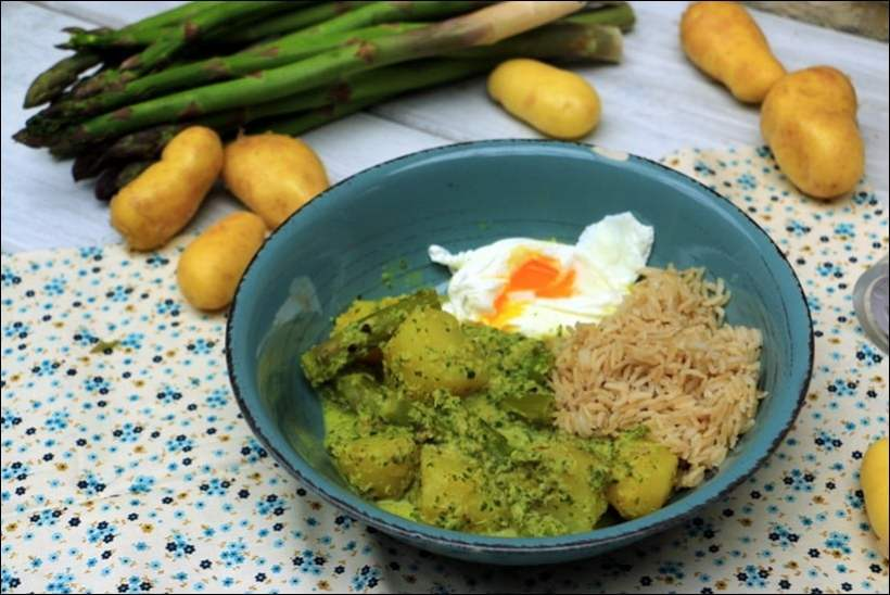 curry vert asperges