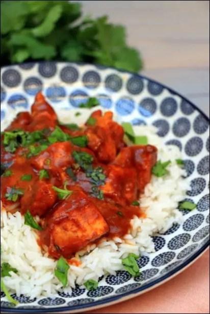 curry poulet au lait de coco