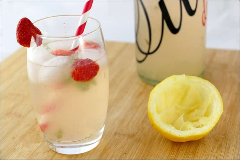 detox water fraise citron menthe