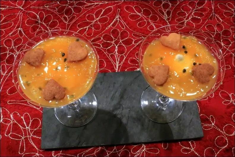 Emulsion satine de Pierre Hermé – verrines cream cheese orange passion