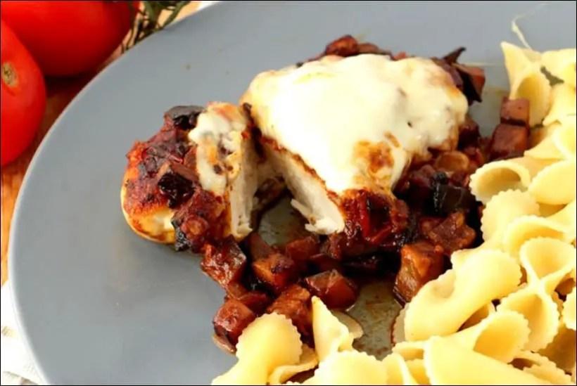 escalopes gratinées à la mozzarella