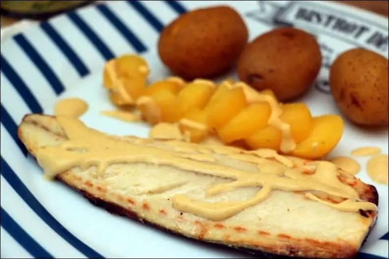 maquereau à la moutarde à la poele