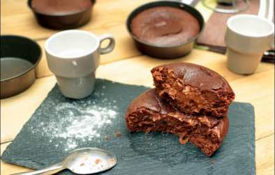 fondant coulant healthy chocolat et amandes