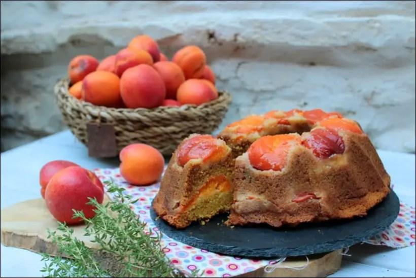 gateau abricots frais