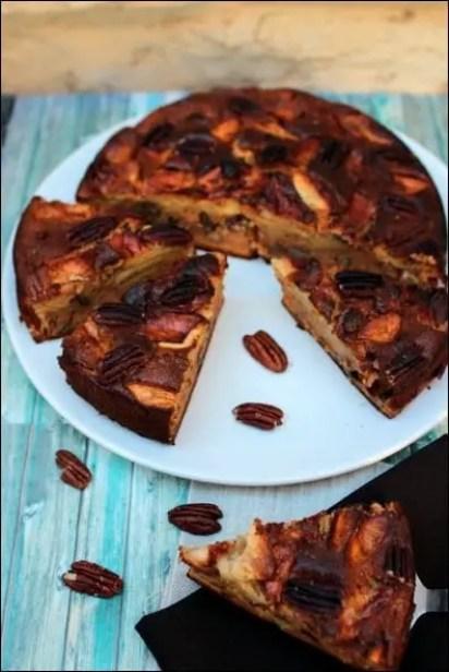 gâteau aux pommes et miel