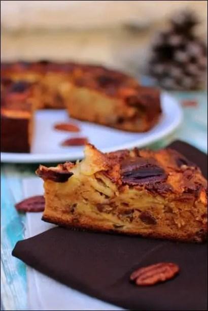 gâteau pomme noix de pecan