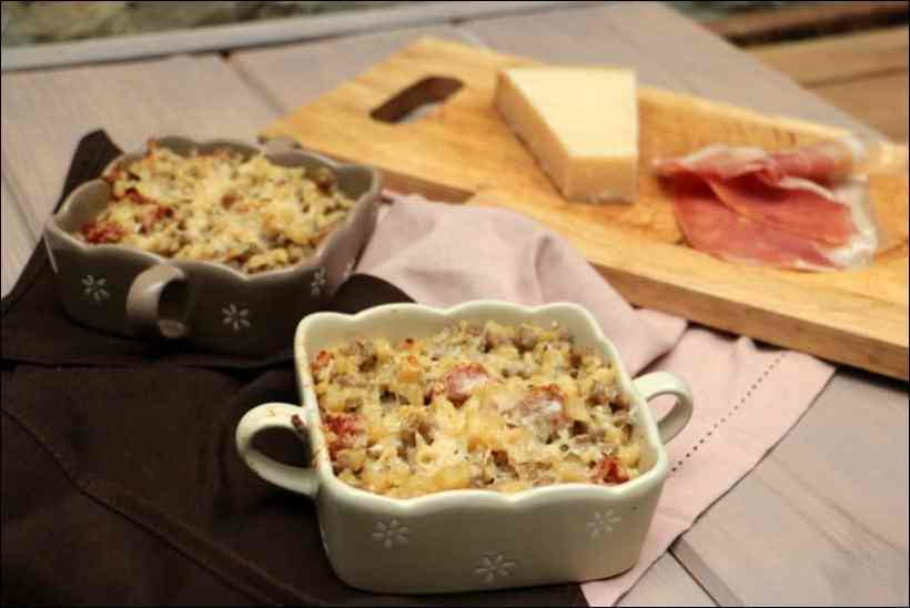 crozets jambon parmesan