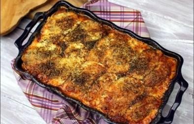 gratin d'aubergines en lasagnes au parmesan, ricotta et épinards