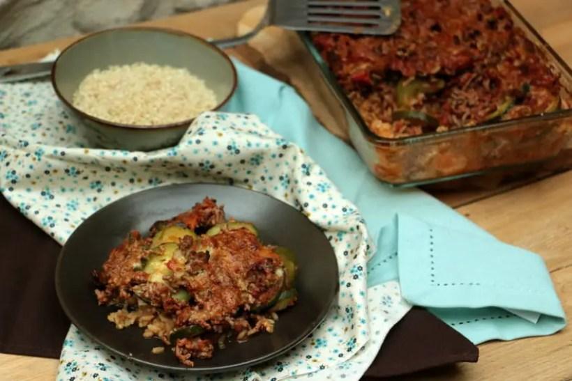 hachis parmentier avec du riz