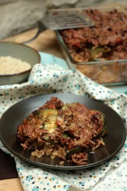 riz bœuf haché