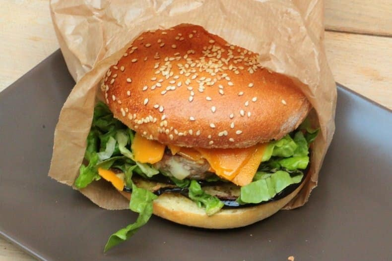 burger agneau aubergine