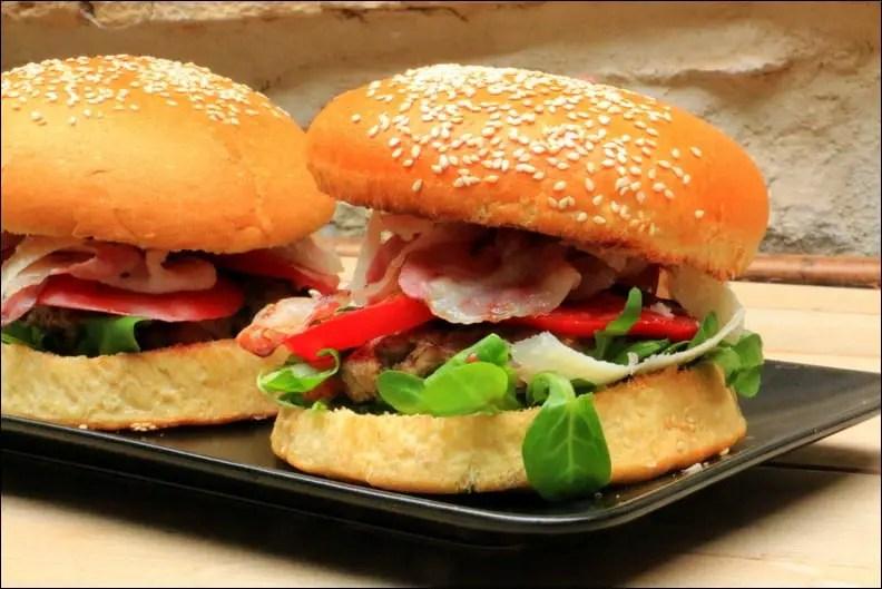 burger italien au veau haché pancetta et pecorino