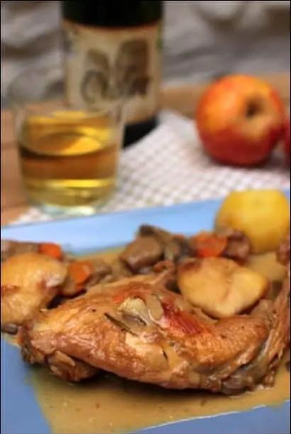 lapin au cidre et aux pommes