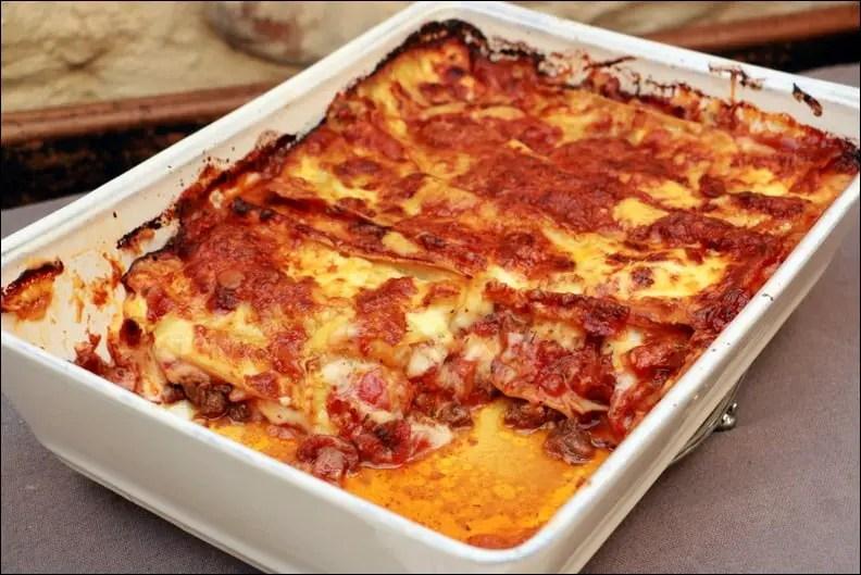 lasagnes bolognaises avec champignons