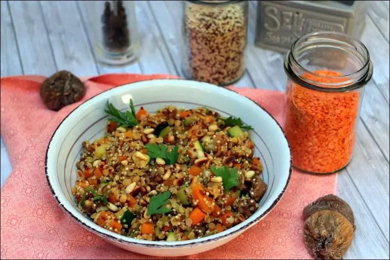 poêlée lentilles corail quinoa