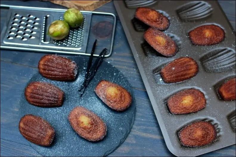 madeleines vanille citron vert amande amère Conticini