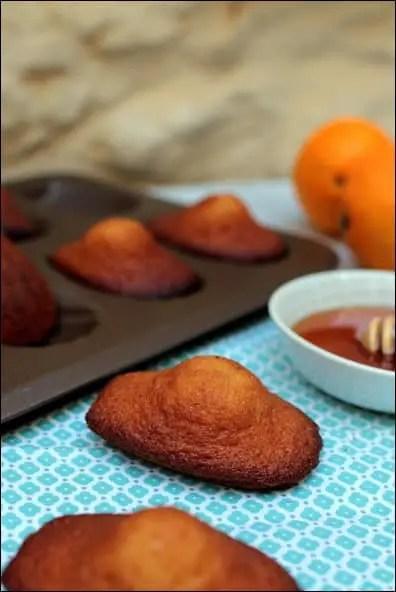 madeleines miel orange lignac