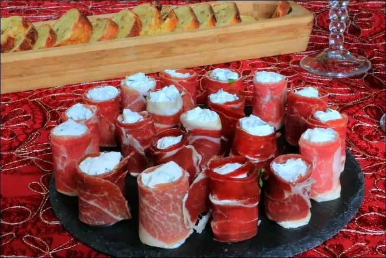 Makis de jambon au fromage