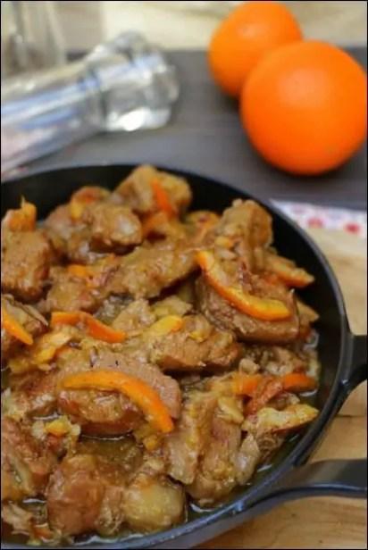 mijoté de veau à l'orange