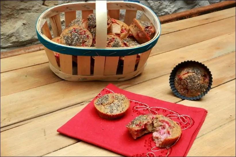 muffins moelleux aux fraises et graines de chia