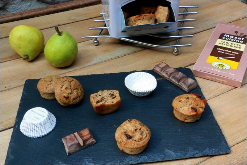 muffins poire noisettes