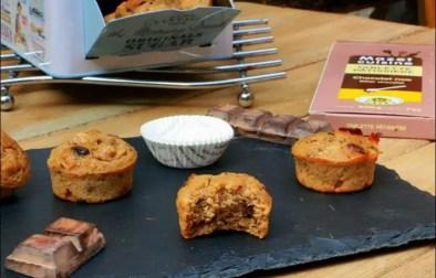 muffins aux noisettes poire et pépites de chocolat