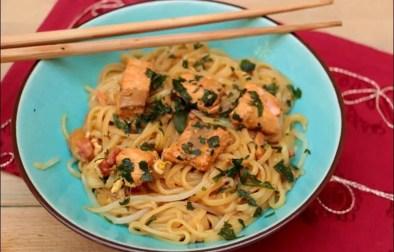 pad thaï au saumon