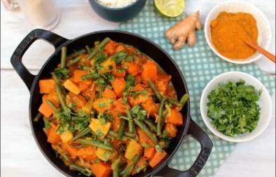 wok ananas potiron thai