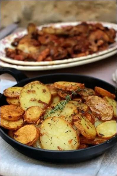 pommes de terre sautées ail