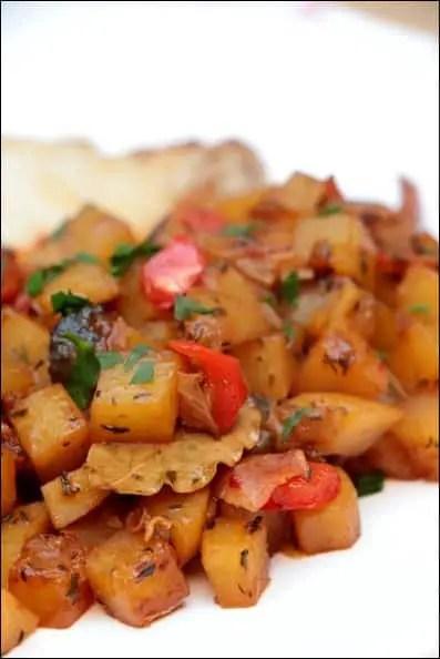pommes de terre sautées jambon cru