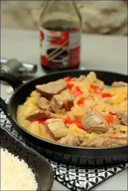 porc ananas au wok