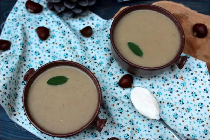 soupe chataigne sauge