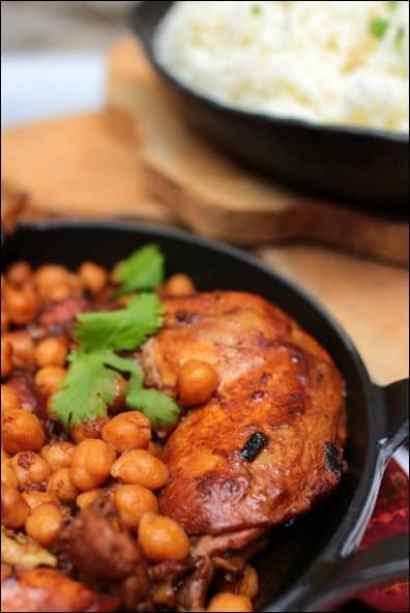 poulet pois chiches cannelle sauce tomate