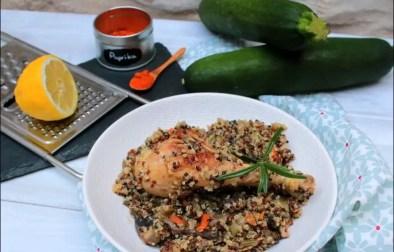 poulet au romarin et au citron et son risotto de quinoa