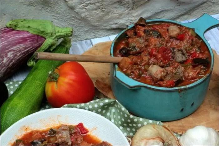 ratatouille viande hachée saucisse