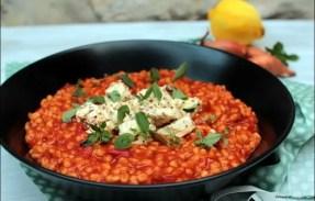 risotto orge perlé feta marinée tomate