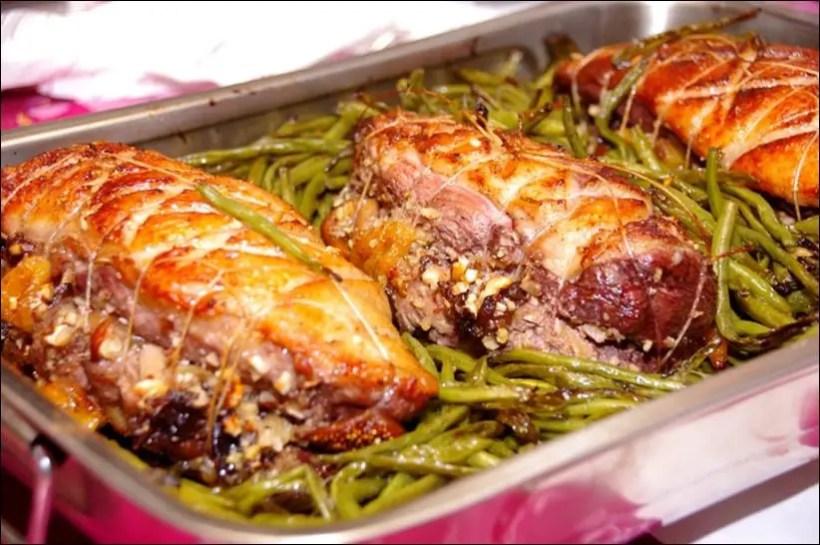 roti magret de canard au foie gras