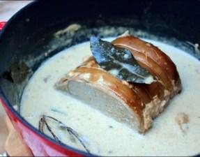 roti de porc dans lait