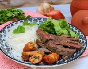 salade de bœuf mariné à la vietnamienne