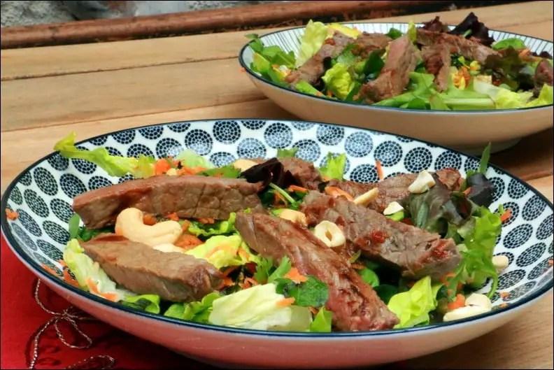 salade de bœuf à la thaï