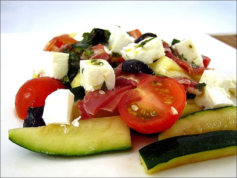 salade courgette tomate