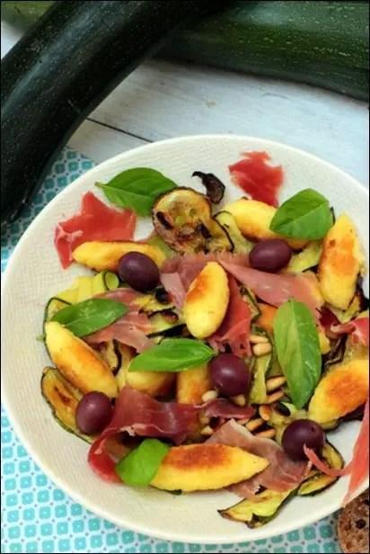 salade avec petites quenelles