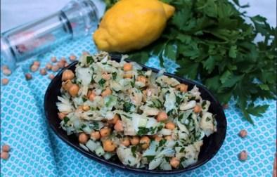 salade de morue et pois chiches à la portugaise
