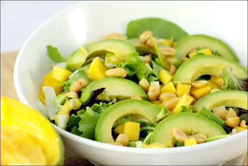 salade mangue et avocat façon thaï