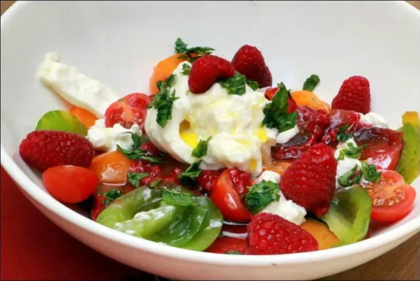 recette salade tomates cerises burrata