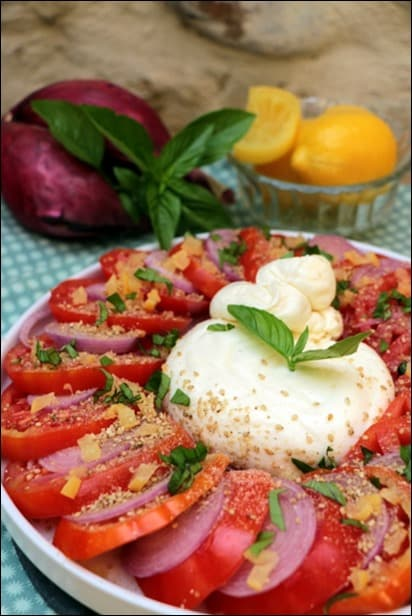 salade tomate burrata